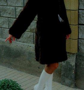 Шуба Норка полушубок пальто куртка шубка дубленка