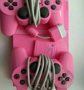 SonyPlaystation 2 (розовая)