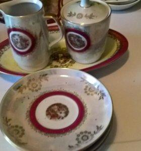 фарфоровый набор чайный не полный ГДР(Мадонна)