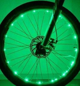 ☑💯 Светодиодная подсветка для колёс велосипеда