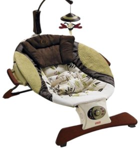 Детское массажное кресло-шезлонг