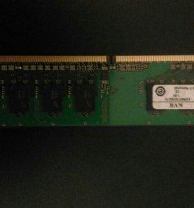 ОЗУ DDR2 1Gb*2
