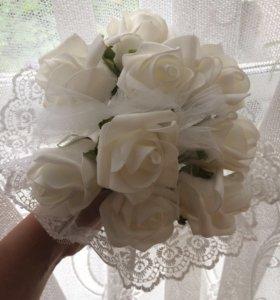 Искусственный свадебный букет