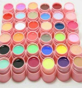 Гель краска для ногтей. Набор 36 цветов.