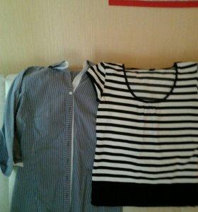 Веселая полоска, рубашка и футболка. Р-р 46-48.