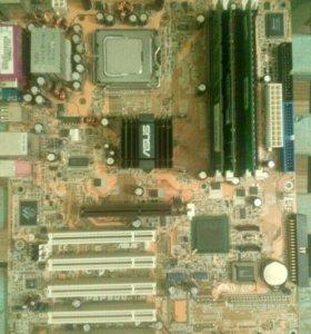 Материнская плата asus 5p800 процессор пентиум4