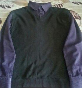 Рубашка с жилеткой (двойка)