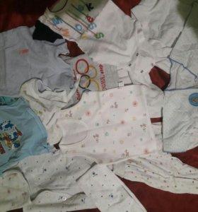 Пакет с детскими вещами 0-3,-6 месяцев 8