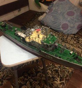 Корабль ручной работы. Тральщик 1 длинной .