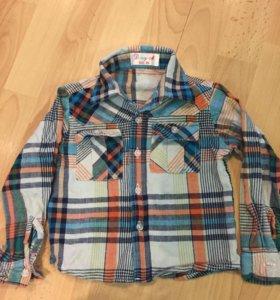 Рубашки, р.86,80