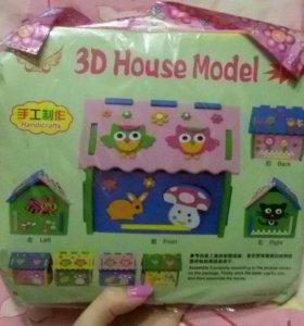 Новый сборный домик для детей(3d дом)