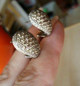 Серьги с бриллиантами 585 2ct