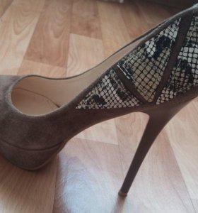 Туфли из нат. замша