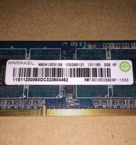 DDR3 для ноутбука 2 гб Ramaxel