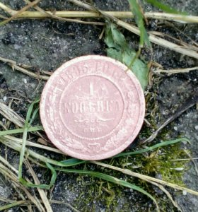 Монета 1895 года 1 копейка