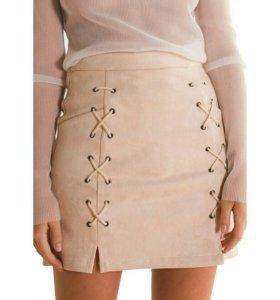 Новая замшевая мини-юбка