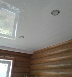 1. Натяжной потолок.