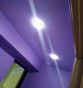2. Натяжные потолки