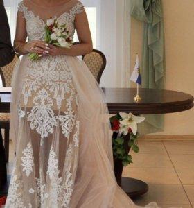 Свадебное платье+пышная юбка(Gerda bridal)