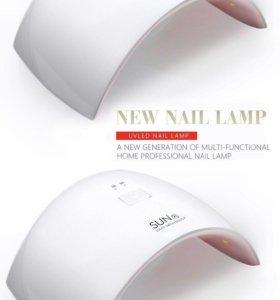 Уф лампа сенсорная для ногтей+ стразы в подарок!