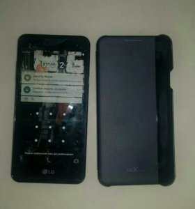 LG X style + умный чехол и силиконовый