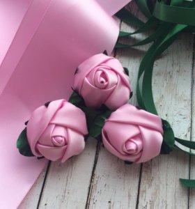 Брошь роза из атласной ленты 🎁 любимым