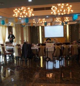 Свадебные украшения, банты на стулья
