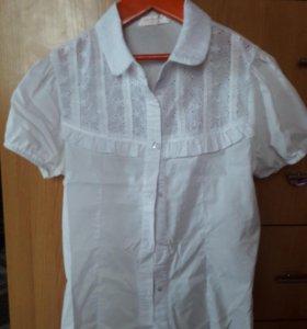 Блузка в школу на девочку 7-10лет