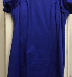 Очень красивое синее платье 46
