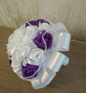 Свадебный букетик (бутоньерка в подарок жениху)