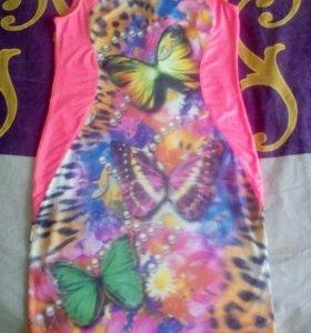 Платье 3D бабочки.