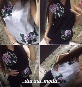 Рубашка в чёрном цвете