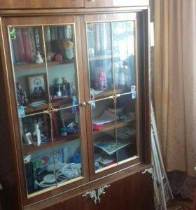 Шкаф со стеклянными дверцами!