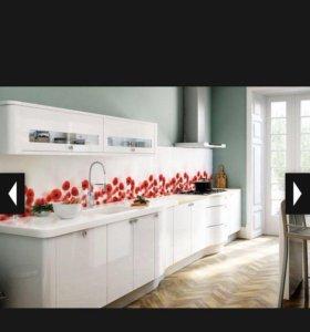 Кухонный фартук маки