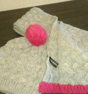 Шапка+шарф,берет,шапочка