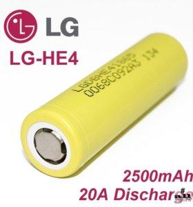 высокотоковый аккумулятор 18650 LG HE4