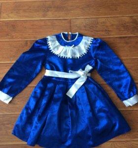 Шёлковое праздничное детское платье
