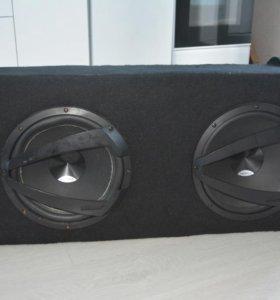2 сабвуфера Hertz DS 300.3 в коробе