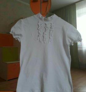 Новая школьная футболка для девочки