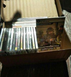 Коробка с игровыми дисками для ПК