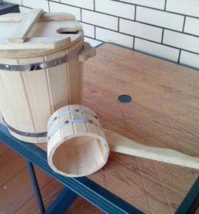 Запарник для веника и ковш