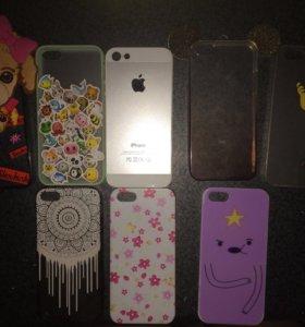 Чехлы на iPhone 4(s),5(s),7