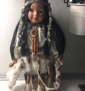 "Фарфоровая кукла ""индейцы"""