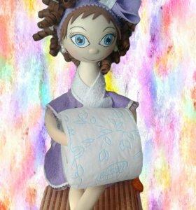 Кукла- держатель туалетной бумаги