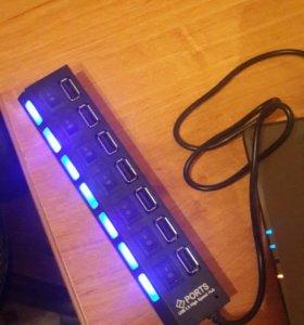 USB-хаб на 7 портов (с индикаторами)