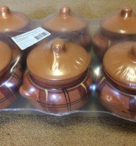 Набор керамических горшочков для запекания