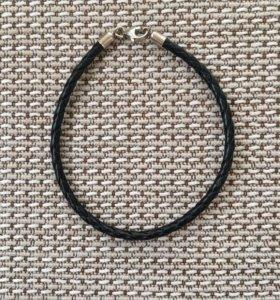 Кожаный браслет +1 шарм в подарок Sunlight