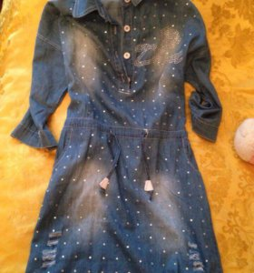 Джинсовое платье)
