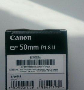 Новый объектив Canon EF 50mm f/1.8 II