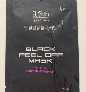 Чёрная маска- пленка для лица